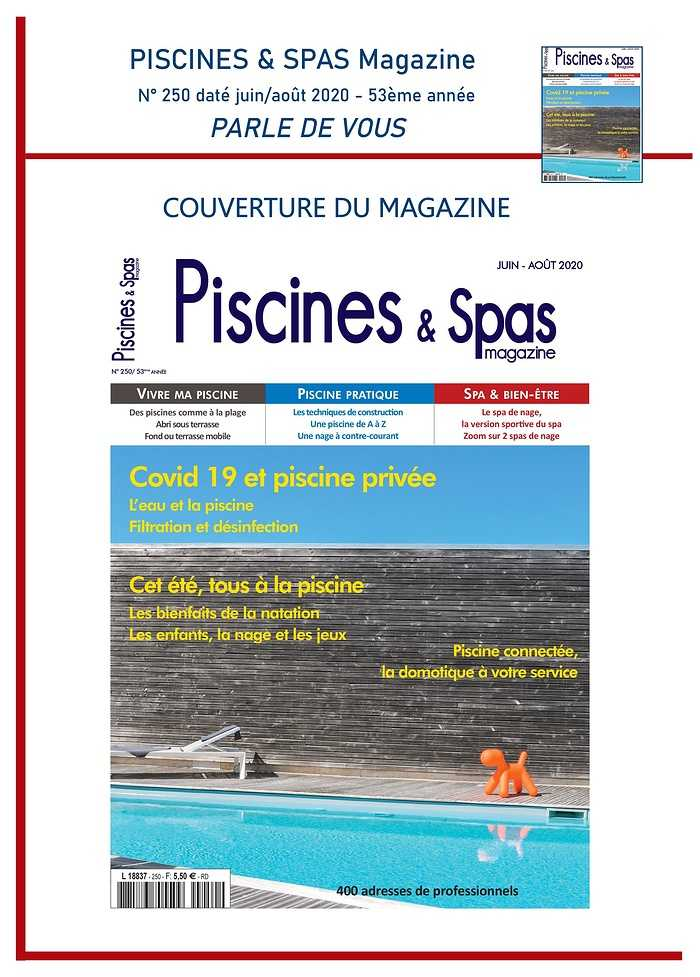 Aquasynergie fait la une du magasine Piscines & Spas - Juin 2020 0